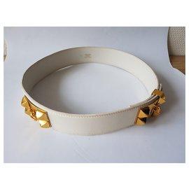 Hermès-Hundehalsband-Weiß