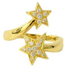 Chanel-Chanel Comete Star Diamond Ring-Golden