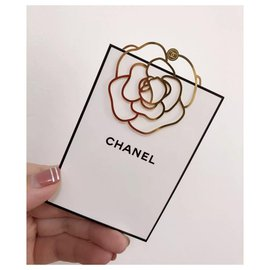 Chanel-CHANEL Signet Camélia-Doré
