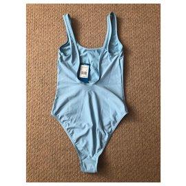 Adidas-Maillot de bain natation Adidas Original-Bleu clair