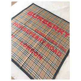 Burberry-Foulard en soie imprimée NM BURBERRY-Multicolore