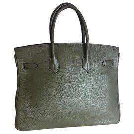 Hermès-Birkin 35-Grün,Olivgrün
