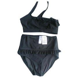 Stella Mc Cartney-Maillot de bain 2 pièces noir Stella McCartney taille 36-Noir