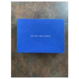 Stuart Weitzman-Stiefel-Pink,Beige