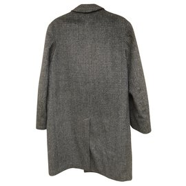 Autre Marque-Vintage Mavest coat 60wool and mohair-Grey