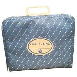 Chanel-Sac de voyage-Bleu clair