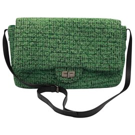 Chanel-Handbags-Green