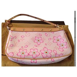 Louis Vuitton-Pochette Louis Vuitton Murakami cherry blossom-Rose
