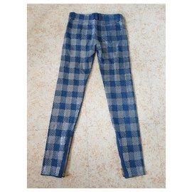 Balmain-jeans-Argenté,Bleu
