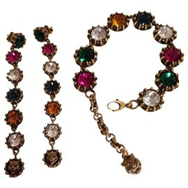 Gucci-Gucci Bracelet and earrings-Multiple colors,Other