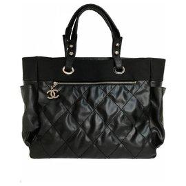 Chanel-Grand shopping 40cm Tote Bag Paris Biarritz-Black