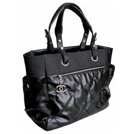 Chanel-Grand shopping 40Tote Bag Paris Biarritz-Noir
