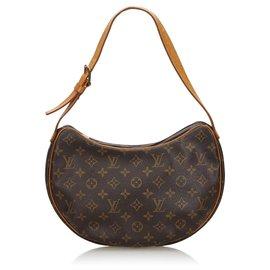 Louis Vuitton-Louis Vuitton Brown Monogram Croissant MM-Brown