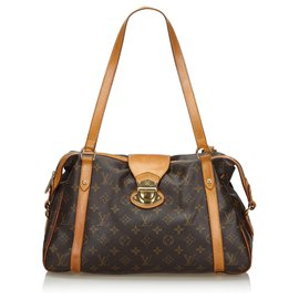 Louis Vuitton-Louis Vuitton Brown Monogram Stresa PM-Marron