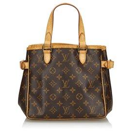 Louis Vuitton-Louis Vuitton Brown Monogram Batignolles Vertical-Brown