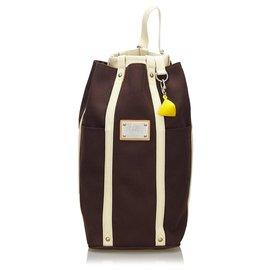Louis Vuitton-Louis Vuitton Brown Antigua LV Cup Randonnee-Brown,White