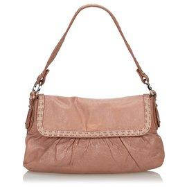 Fendi-Fendi Pink Leather Selleria Chef-Pink