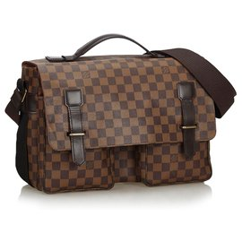 Louis Vuitton-Louis Vuitton Brown Damier Ebene Broadway-Brown