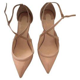 Christian Louboutin-Christian Louboutin Nude heels shoes EU 38-Beige