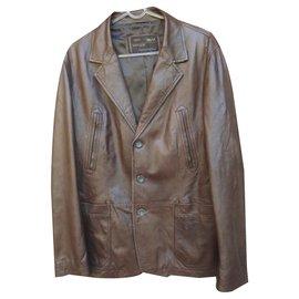 Autre Marque-MCS Marlboro Classics Lambskin Jacket-Dark brown