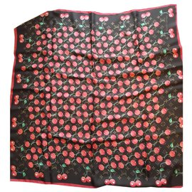 Louis Vuitton-Foulard Louis Vuitton  x Takashi Murakami Monogram-Rouge