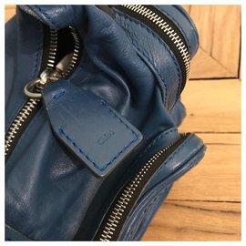 Chloé-Blue Shoulder Bag-Blue