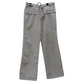 Louis Vuitton-Pants, leggings-Beige