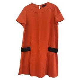 Proenza Schouler-Orange dress-Black,Orange