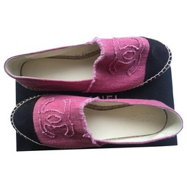 Chanel-ESPADRILLE CHANEL NEW-Pink