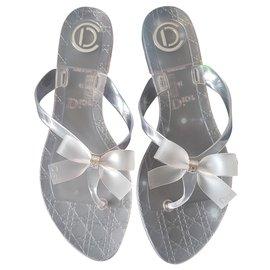 Dior-Sandalen-Grau