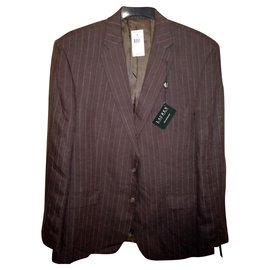 Ralph Lauren-LAUREN by Ralph Lauren NWT Linen Suit Jacket-Brown