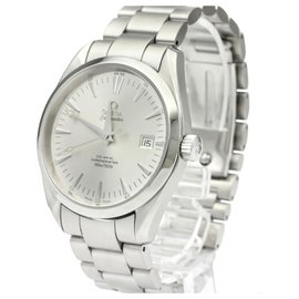 Omega-Omega Silver Stainless Steel Aqua Terra Co-Axial Automatic 2503.30-Silvery,White