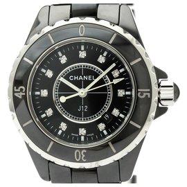Chanel-Chanel schwarz Keramik J12 Quarz H1625-Schwarz,Silber