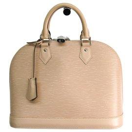 Louis Vuitton-Louis Vuitton Brown Epi Alma PM-Brown,Beige