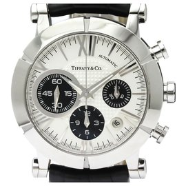 Tiffany & Co-Tiffany Silver Stainless Steel Atlas Automatic Z1000.82.12A21A71A-Black,Silvery