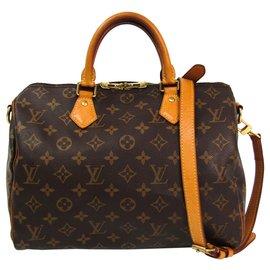 Louis Vuitton-Louis Vuitton Brown Monogram Speedy Bandouliere 30-Brown