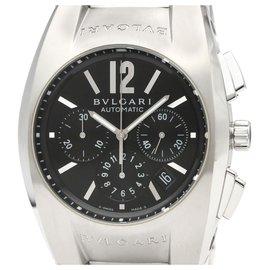 Bulgari-Bvlgari Silver Edelstahl Ergon Chronograph Automatic EG40SCH-Schwarz,Silber