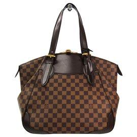 Louis Vuitton-Louis Vuitton Brown Damier Sistina GM-Brown