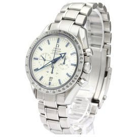 Omega-Omega Silver Stainless Steel Speedmaster Broad Arrow Automatic 3551.20-Silvery,White