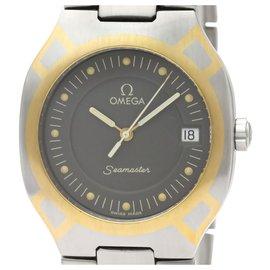 Omega-Omega Silver Edelstahl Seamaster Polaris Quartz 396.1022-Silber,Golden