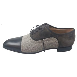 Christian Louboutin-Christian Louboutin Black Greggo Orlato Oxford-Black,Grey