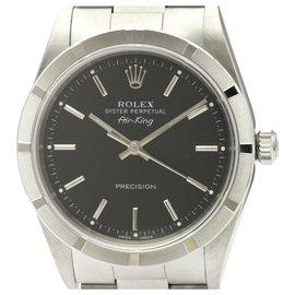 Rolex-Rolex Silver Edelstahl Airking Automatic 14010-Schwarz,Silber