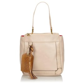 Chloé-Chloe Pink Leather Eden Tote Bag-Pink,Other