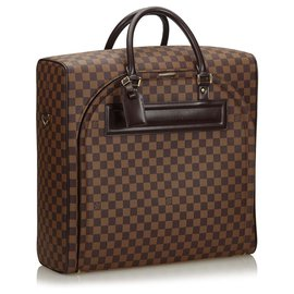 Louis Vuitton-Louis Vuitton Brown Damier Ebene Nolita PM-Marron
