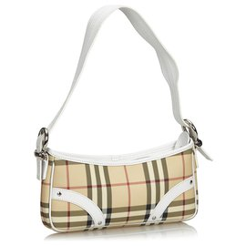 Burberry-Burberry Brown House Check Baguette-Brown,Multiple colors,Beige