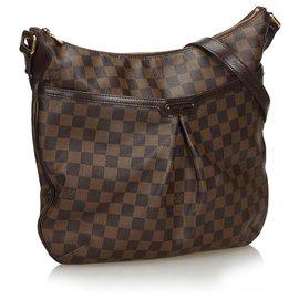 Louis Vuitton-Louis Vuitton Brown Damier Ebene Bloomsbury PM-Brown