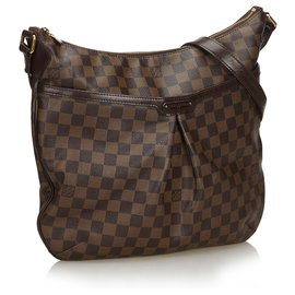 Louis Vuitton-Louis Vuitton Brown Damier Ebene Bloomsbury PM-Marron