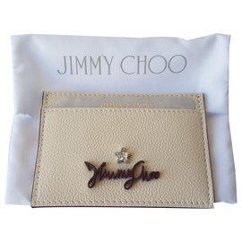 Jimmy Choo-Wallets-Cream