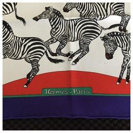 Hermès-«Les zèbres»-Multicolore