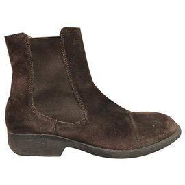 Autre Marque-Marlboro Classics boots-Dark brown